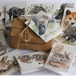 Mini Gift Cards - set of 12 - Australian Mammals (wildlife, animals)