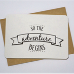 Adventure begins gift card