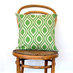 Grass Green and Natural Cushion Cover