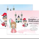 Printable Birthday Party Invitation - Knights & Princesses