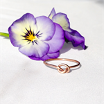 Rose gold tiny knot ring, stacking ring