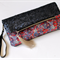 Fold over clutch, wristlet, sequins and floral fabric clutch