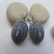 Black and White Mosaic Earrings