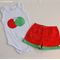 Girl's Christmas Ruffle Shorts and Onesie Set - Size 1 (C36)