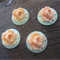 18mm 3D Rose Cabochon - Soft Pink on Mint Green
