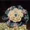 Floral Hairclip with Crochet Flower and Pearl in Centre