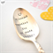 Hand stamped vintage spoon - spooning together anniversary spoon