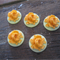 18mm Rose Cabochon 3D - Tangerine on Mint Green