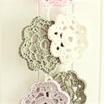 sophie   flower garland   crochet bunting room accessory