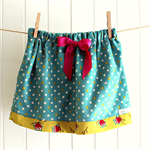 sneaky owls   little girl bow skirt   pinwale cord   size 3   last one !