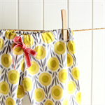 springtime | baby play pants | organic cotton | yellow