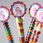 8 Pack Rainbow Unicorn Lolly Tube Birthday Party Favours Pony #LT0013