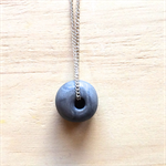 SILVER POLYMER CLAY PENDANT NECKLACE - FREE SHIPPING WORLDWIDE