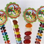 8 Pack Farm Animal Lolly Tube Birthday Party Favours #LT0014