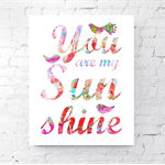 Special Price ! PINK You Are My Sunshine Set of Five Prints
