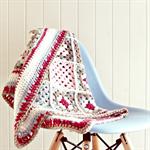 baby blanket   crochet pure wool   pram stroller size   newborn girl gift