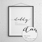 Father's Day Daddy Print