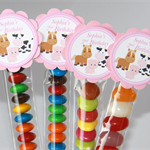 8 Pack Farm Animal Lolly Tube Birthday Party Favour #LT0009