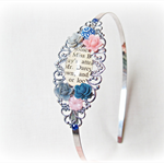 Mr Darcy Headband Jane Austen Pride and Prejudice Silver Navy Pink Grey