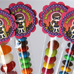 8 Pack Girls Superhero Lolly Tube Birthday Party Favours #LT0010