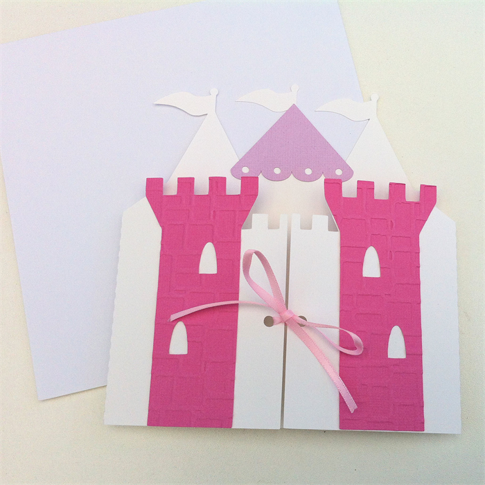 Princess Castle Invitation Folders Birthday Party Baby Shower Pink Purple