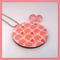 Sweet Pink Elephant Wood Pendant and Stud Earring Set