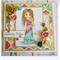 Birthday Wishes Handmade & Coloured Greeting Card - Peace Girl