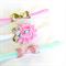 Baby Bow & Flower Headband Set - Glitter - Pink - Mint - Gold - Velvet Elastic
