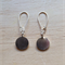 SMALL THAI KAREN HILL TRIBE SILVER ROUND DISC EARRINGS - FREE SHIPPING WORLDWIDE