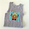 Grey Robots Singlet, Appliqued Singlet, Cotton, Size 2