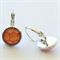 Yellow and Orange Circle Silver Earrings