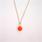 SAMPLE SALE: Coral Pearl Drop Necklace