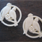 Cream 32mm Love Birds Cabochon