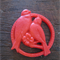 Red Love Birds 32mm Cabochon