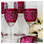Personalised - Wedding Glasses -Bridesmaids - Champagne Toasting Flute - Lace
