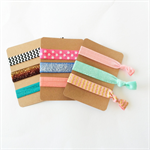 3 cards of Fold over elastic hair ties  FREE POST