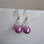 Little Purple/Lavender Short Drop Earrings, ideal as a gift