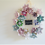 Origami Flower Wreath - MADE TO ORDER