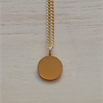 SMALL THAI KAREN HILL TRIBE SILVER GOLD VERMEIL ROUND DISC PENDANT NECKLACE