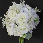 Deluxe White Delight Brides Bouquet