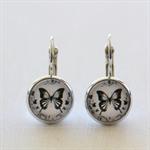 Black & White Butterfly Earrings