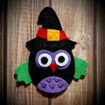 Halloween Felt Owl Clip
