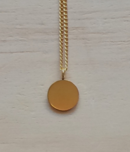 Small thai karen hill tribe silver gold vermeil round disc pendant small thai karen hill tribe silver gold vermeil round disc pendant necklace aloadofball Image collections