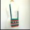 Striped Cotton Handbag Crochet Hip Bag