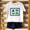 Boys Vintage Toys Shorts & T-shirt Set. Silhouette Print, Denim, Cotton. Size 2