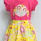 Girls Skirt and Applique T-shirt Set ~ Happy Face