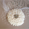 White flower with Swarovski crystals & pearls, hairclip/fascinator