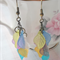 Multi Coloured Boho Leaf Earrings