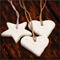 Set of 3 polymer clay tags (marble)