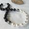Swarovski black + white pearls, Sterling Silver, necklace